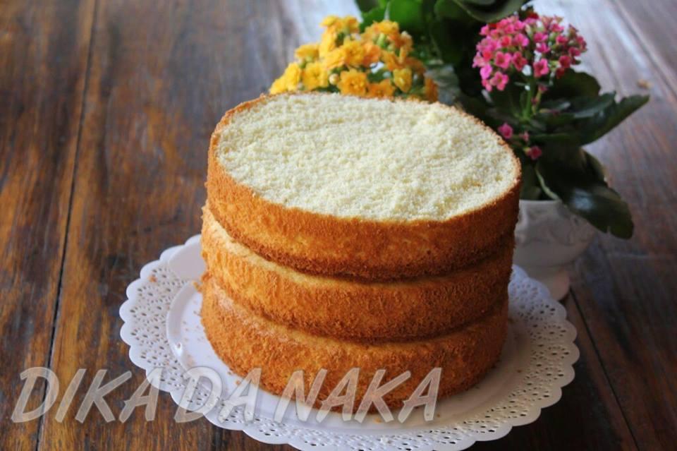 Pão De Ló De Massa Branca Dika Da Naka