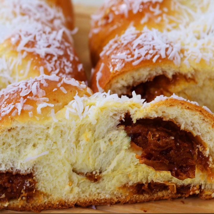 pão com doce de leite